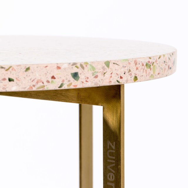 Pomoćni stolić Luigi Round Pink