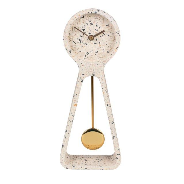 Sat Pendulum Time Terrazzo White
