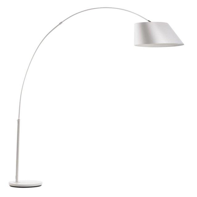 Podna lampa Arc White
