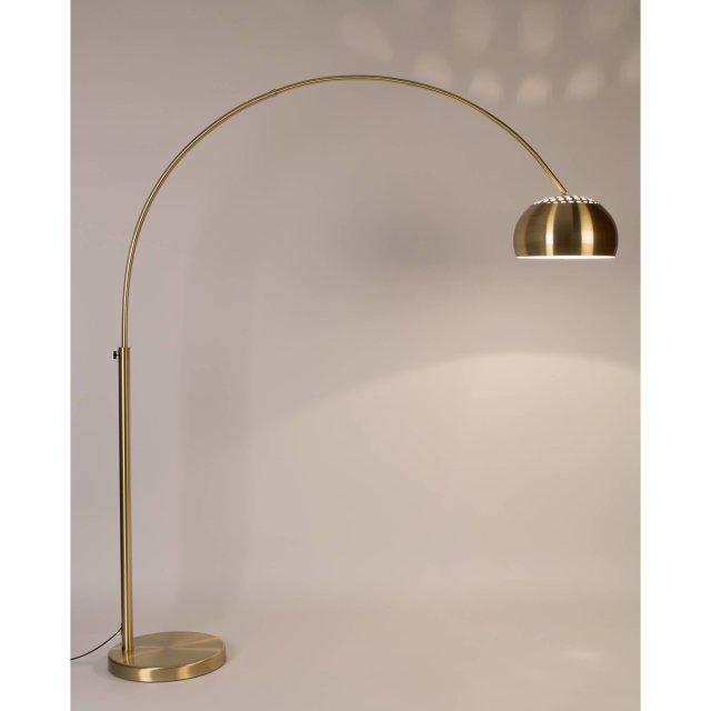 Podna lampa Metal Bow Brass