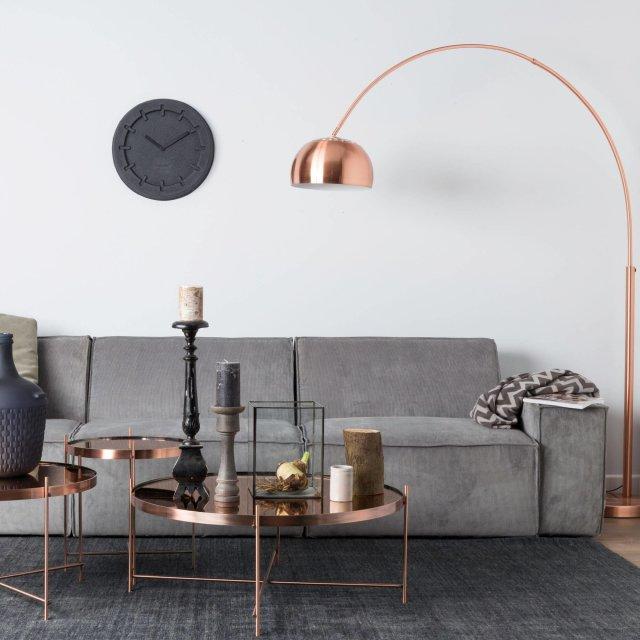 Podna lampa Metal Bow Copper