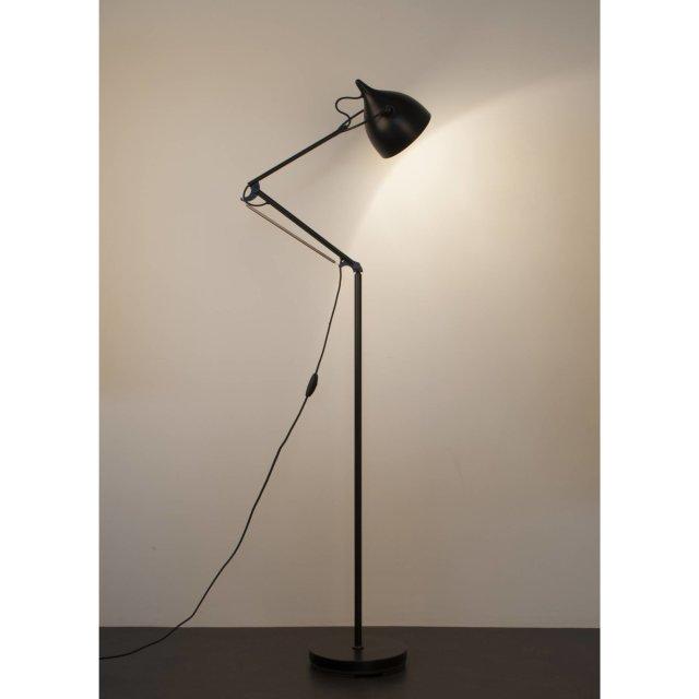 Podna lampa Reader Matt Black
