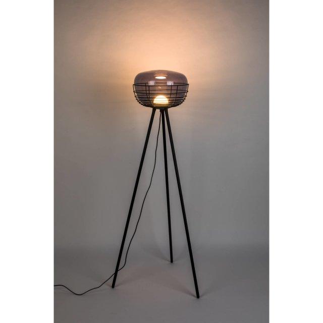 Podna lampa Smokey Black