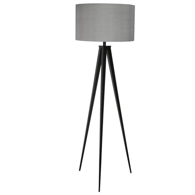 Podna lampa Tripod Black/Grey