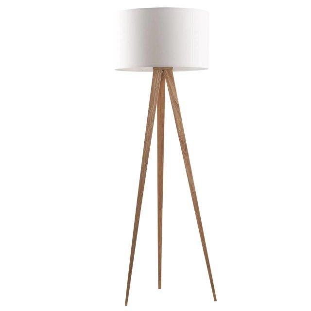 Podna lampa Tripod Wood White
