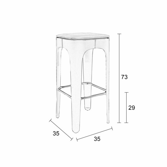 Barska stolica Up-High Black