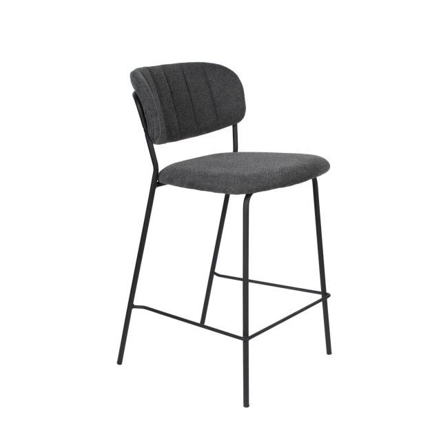 Polubarska stolica Jolien Black/Dark Grey