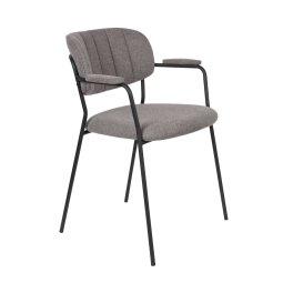 Stolica s rukonaslonom Jolien Black/Grey