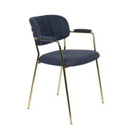 Stolica s rukonaslonom Jolien Gold/Dark Blue