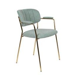 Stolica s rukonaslonom Jolien Gold/Light Green
