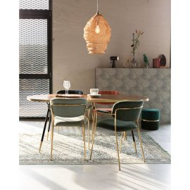 Stolica s rukonaslonom Jolien Gold/Pink