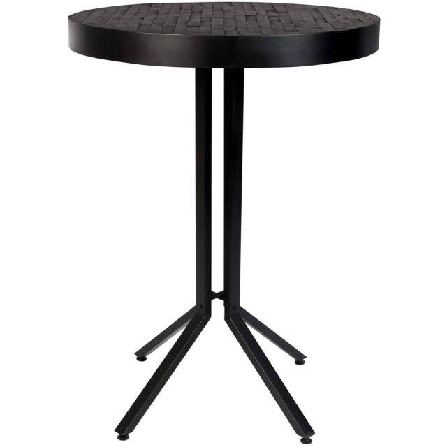Barski stol Maze Round Black