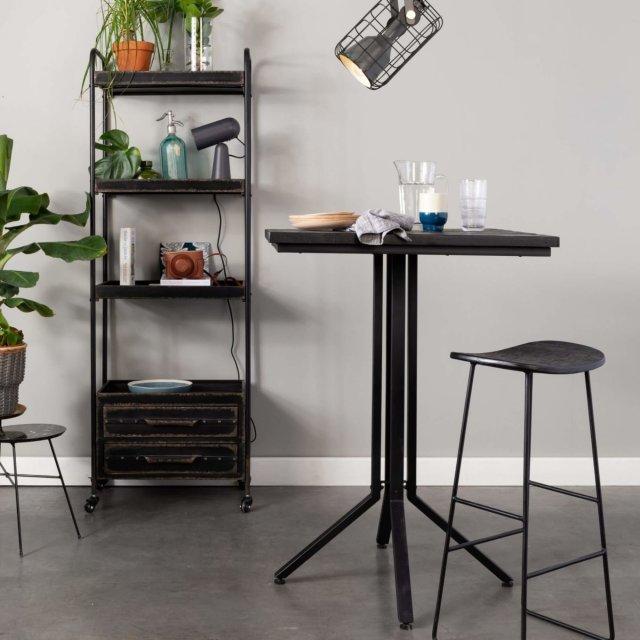Barski stol Maze Square Black