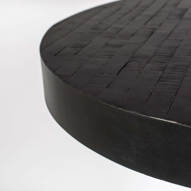 Polubarski stol Maze Round Black