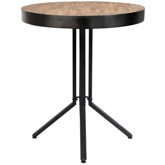Polubarski stol Maze Round Natural