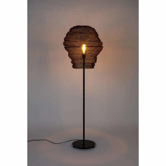 Podna lampa Lena Black