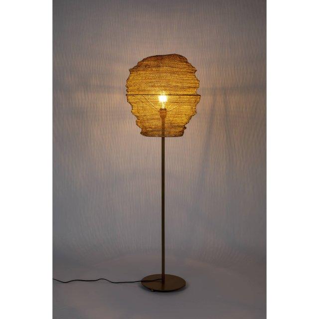 Podna lampa Lena Brass
