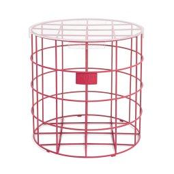 Pomoćni stolić Cage Fight Round Pink