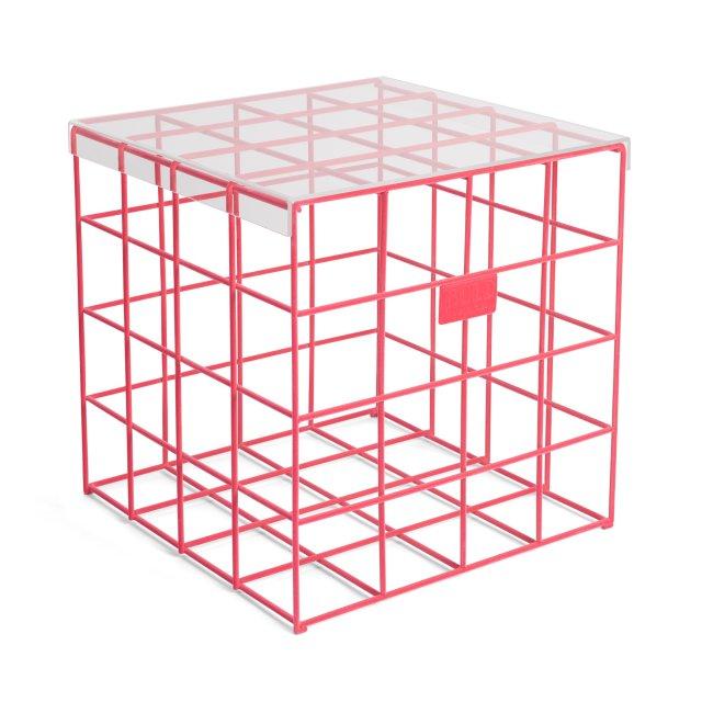 Pomoćni stolić Cage Fight Square Pink