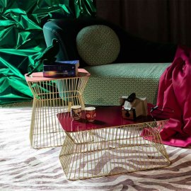 Stolić za kavu No Offence Old Pink