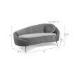 Sofa I Am Not A Croissant Dark Green
