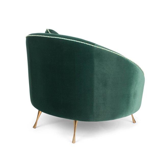 Fotelja Don't Love Me Love Seat Dark Green
