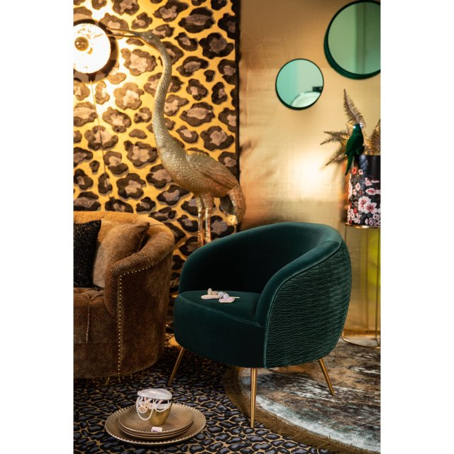 Fotelja So Curvy Dark Green