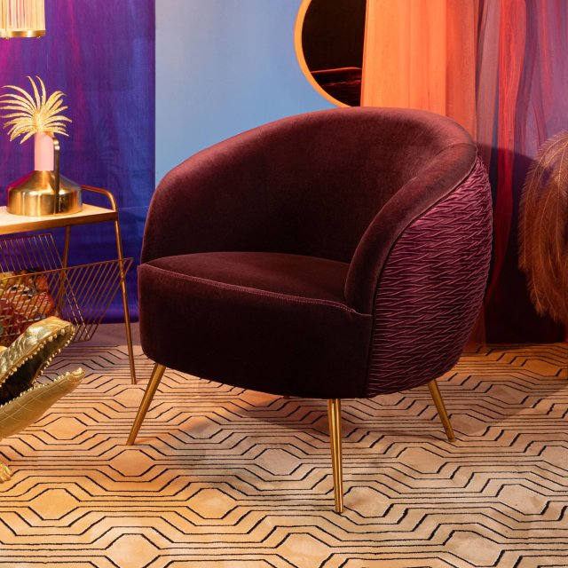 Fotelja So Curvy Purple