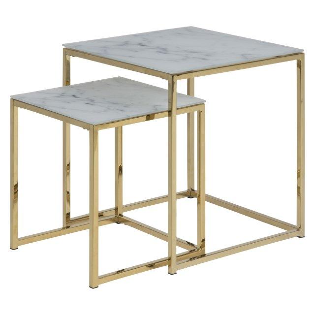 Pomoćni stolić Alisma Glass - set od 2 kom.