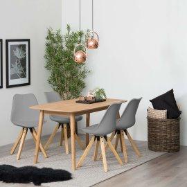 Stolica Dima Grey/Natural