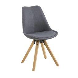 Stolica Dima Dark Grey/Natural