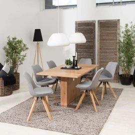 Stolica Dima Light Grey/Natural