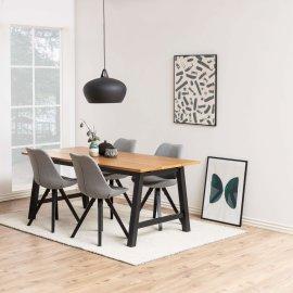 Stolica Dima Grey/Black