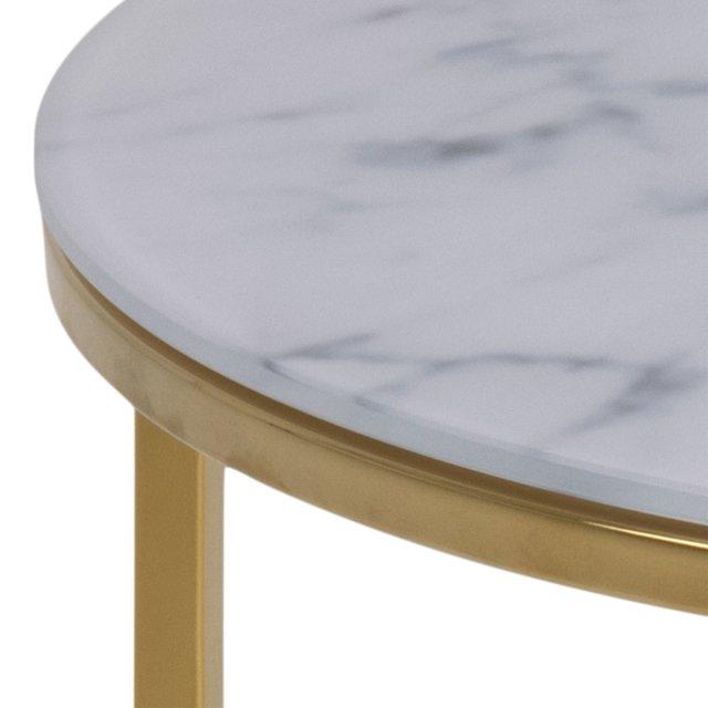 Pomoćni stolić Bolton Round Glass Gold