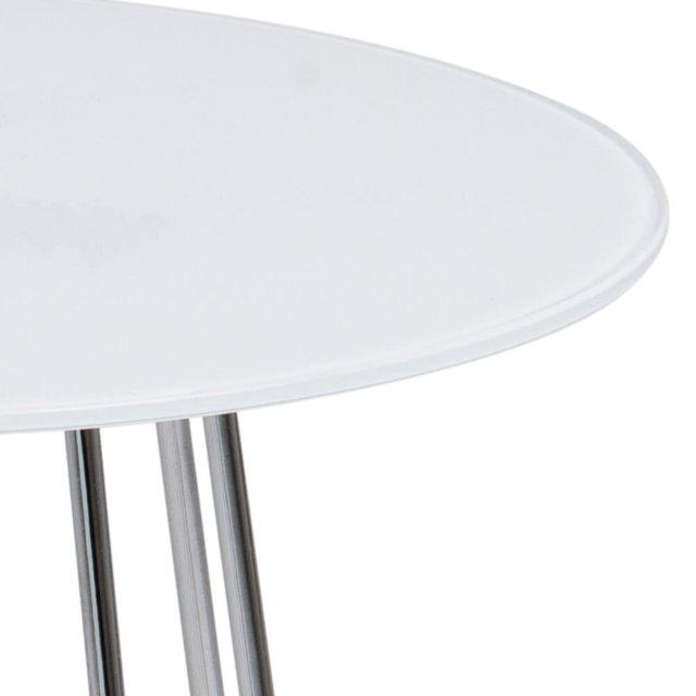 Pomoćni stolić Casia Glass White/Metal