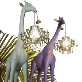 Giraffe in Love XS Pink