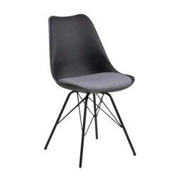 Stolica Eris Black/Light Grey Cushion