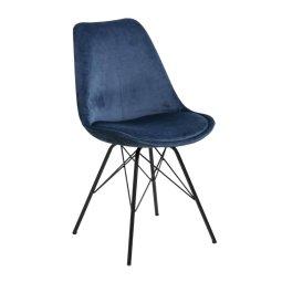 Stolica Eris Velvet Navy Blue