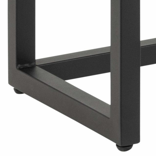 Klupa Dalarna Oak/Black 160x35 cm