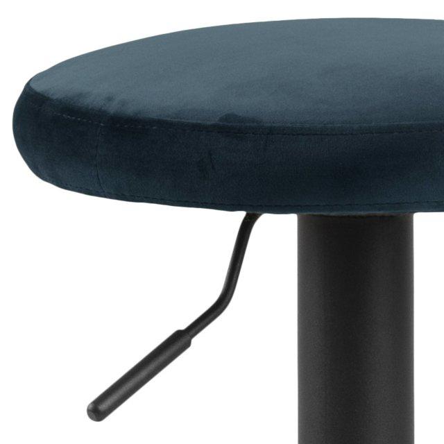 Barska stolica Finch Velvet Navy Blue