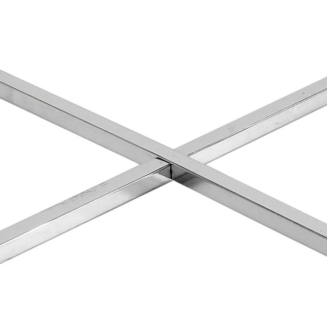 Pomoćni stolić Cross Round Glass Black/Metal