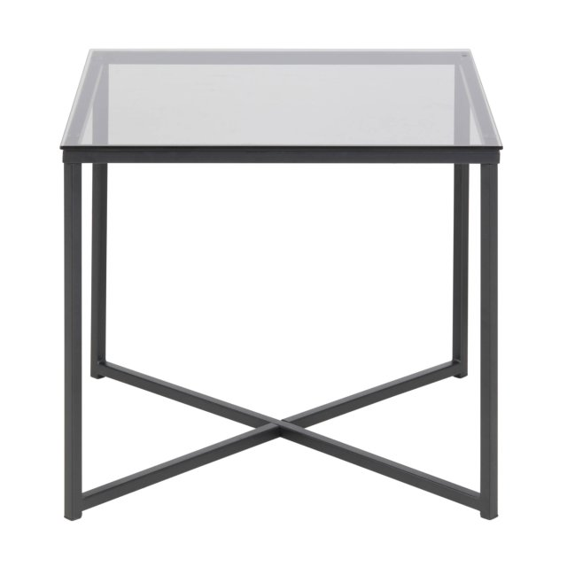 Pomoćni stolić Cross Square Glass Grey/Black