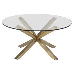 Stolić za kavu Heaven Round Clear/Gold