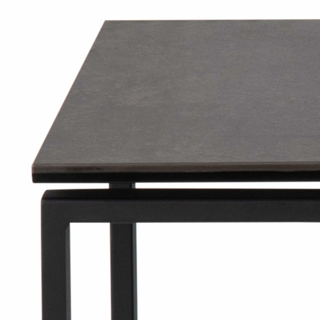 Pomoćni stolić Katrine Ceramic All Black - set od 3 kom.