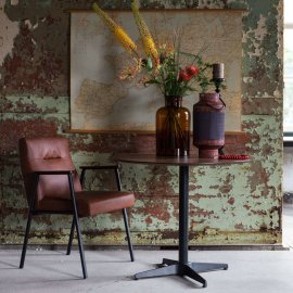 Stolica s rukonaslonom Fez Vintage Brown