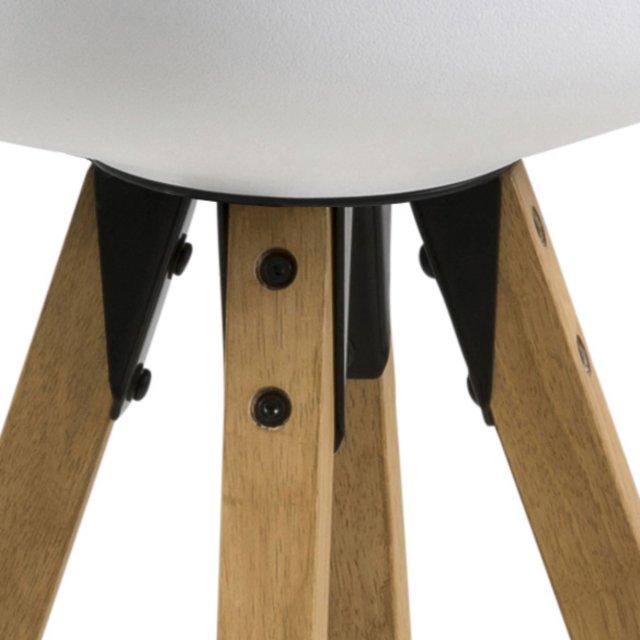 Barska stolica Dima White/Natural
