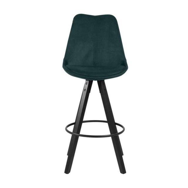 Barska stolica Dima Velvet Dark Green
