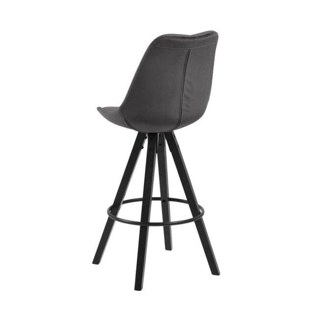 Barska stolica Dima Velvet Dark Grey