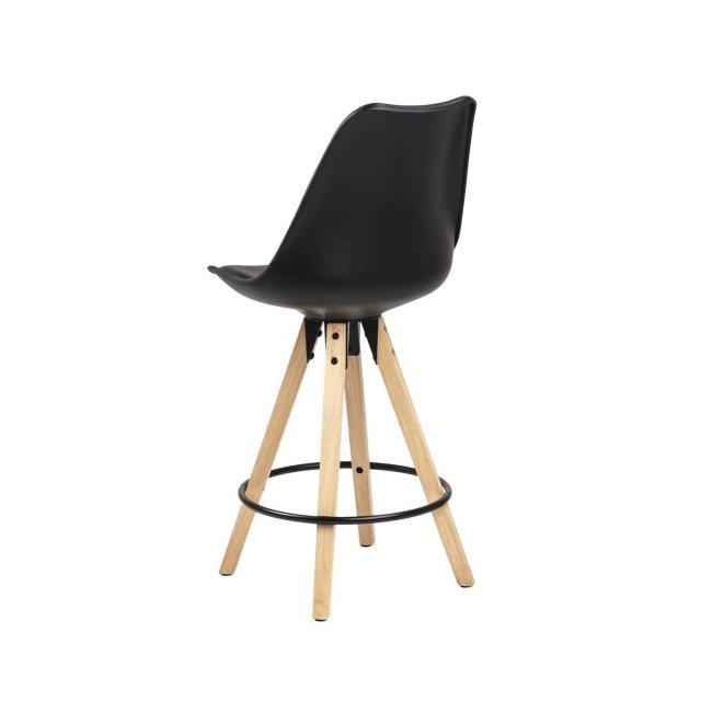 Polubarska stolica Dima Black/Natural