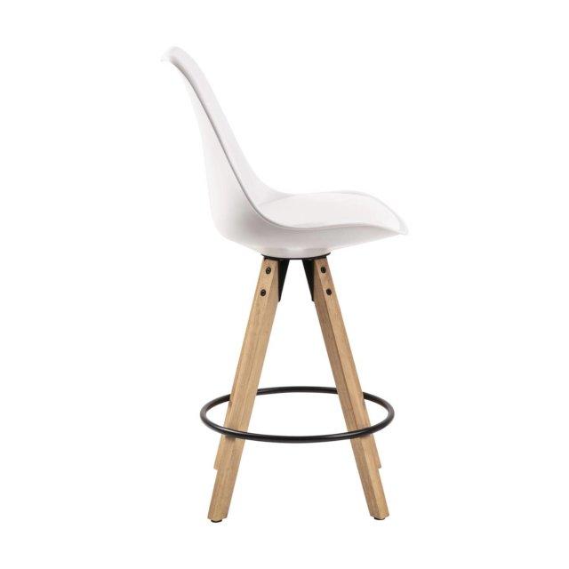 Polubarska stolica Dima White/Natural
